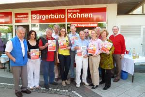 Natascha Kohnen und Peter Paul Gantzer werben für die Massenpetition gegen das Betreuungsgeld