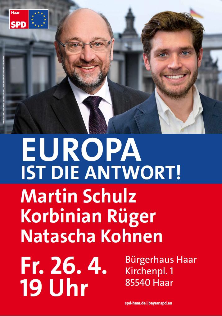 Europa ist die Antwort mit Martin Schulz 26.04.2019 in Haar