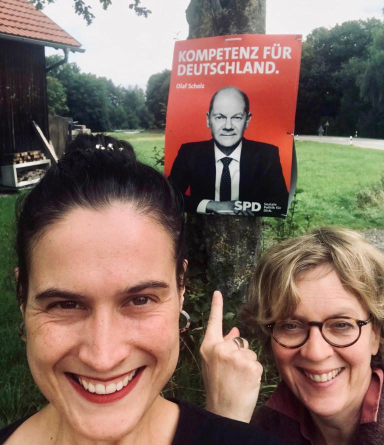 Bürgergespräch Kaufbeuren_Natascha Kohnen mit Regina Leenders, 19.08.2021